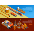 Oil Industry Isometric Webpage Banners Set vector image vector image