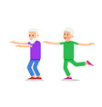 old people doing exercises healthy lifestyle vector image vector image