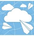 Paper Planes and Cloud Background vector image vector image