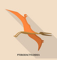 pterodactyloidea icon flat style vector image