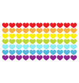 rainbow flag wave line backdrop heart shape lgbt vector image vector image