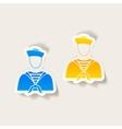 realistic design element sailor vector image vector image