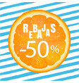 rebajas banner with blue background vector image