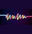 rhythm wave abstract background with glowing neon vector image vector image
