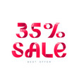 sale 35 percent off vector image vector image