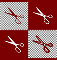 scissors sign bordo and vector image vector image