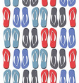 seamless pattern with colorful flip flops vector image vector image
