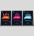 set basketball banners with players and hand vector image vector image