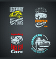 set retro colored vintage logotypes vector image