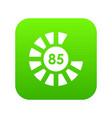 sign 85 load icon digital green vector image