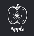 silhouette drawing an apple and vector image vector image