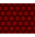 Snowflakes Red Background with Seamless Pattern vector image vector image