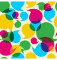Social media bubbles pattern background vector image vector image