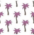 stylized palm trees seamless background vector image