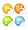 Summer sale design set vector image