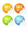 Summer sale design set vector image vector image