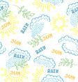 sun rain pattern vector image vector image