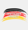 tag der deutschen einheit concept background hand vector image vector image