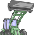 tractor b vector image vector image