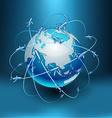 Transportation Earth - Eurasia vector image vector image