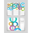 Trifold circles colorful brochure vector image vector image