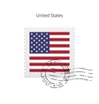 United States Flag Postage Stamp vector image vector image