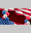 usa country patriotic banner template vector image