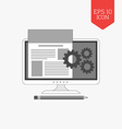 Website development icon Flat design gray color vector image