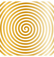 white gold round abstract vortex hypnotic spiral vector image