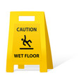 yellow caution sign vector image