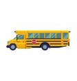 yellow school bus side view school students vector image vector image