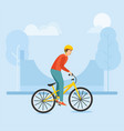 young guy rides a bike and performs complex stunts vector image vector image