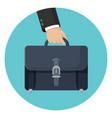 briefcase in businessman hand vector image