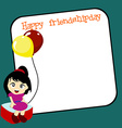 friendship day background vector image