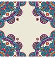 Paisley mandalas hand drawn colored frame vector image