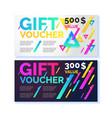 gift voucher flyer vector image