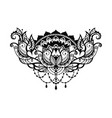 lotus decorative vector image