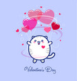 14 february valentines day card or poster vector image vector image
