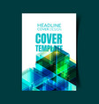 abstract report cover 7 vector image vector image