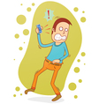 angry on the phone vector image vector image
