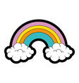 beautiful rainbow cartoon vector image vector image