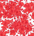 Beautiful seamless pattern of wild scarlet flowers vector image vector image