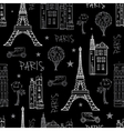 Black White Paris Streets Travel Seamless vector image