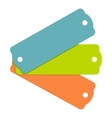 Blank tag labels icon flat style vector image