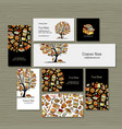 books library business cards design vector image vector image