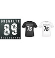 brooklyn numbers stamp and t shirt mockup vector image vector image