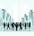 business people in the city vector image vector image