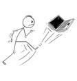 cartoon angry man kicking out portable vector image vector image