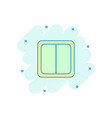 cartoon electric light switch icon in comic style vector image