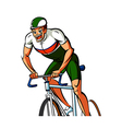 Close-up of man riding bicycle vector image
